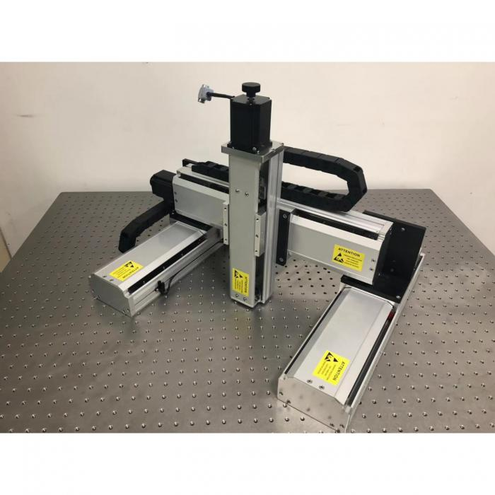 Motorized XYZ Gantry Linear Translation Table: J60S-XYZ101050