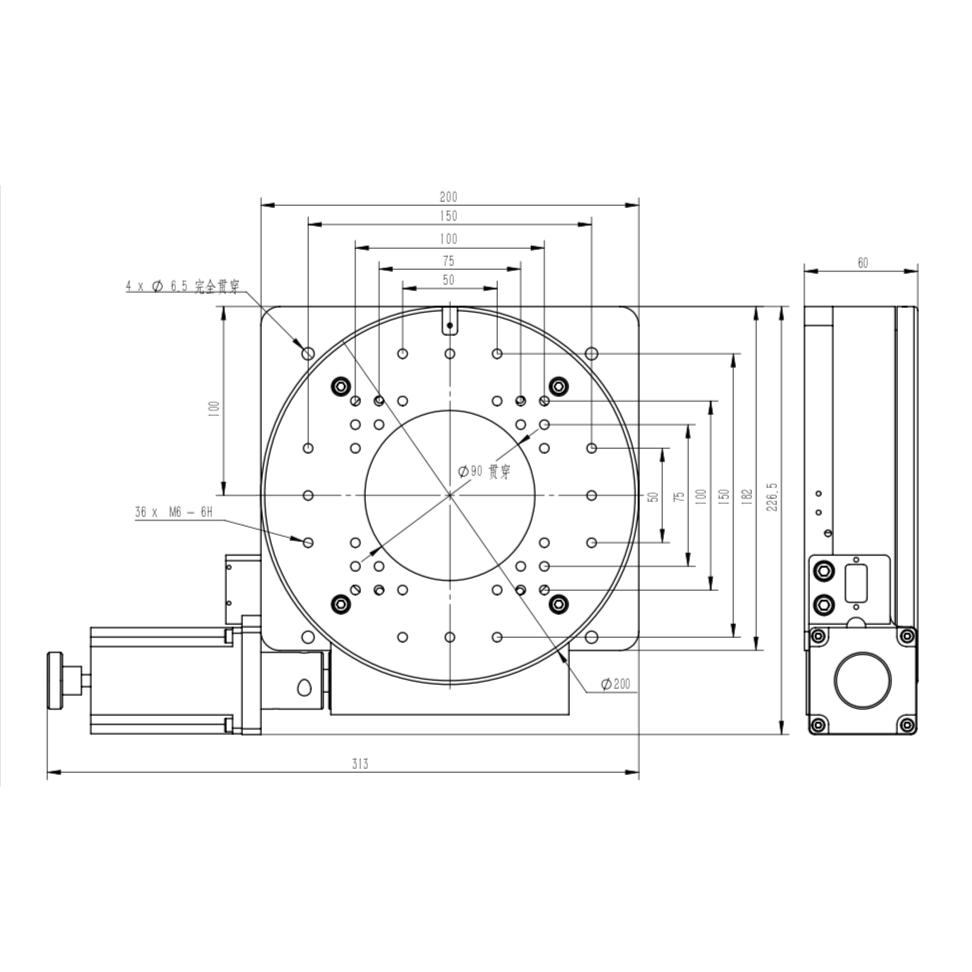 rotary stage J03DX200.png